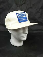 Vtg Ford Tractors Equipment Patch White Mesh Snapback Hat Cap K-Brand K-Products