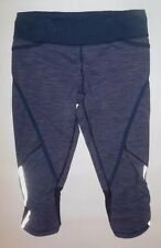 LULULEMON RUN PACE CROP PANTS WEE ARE FROM SPACE DEEP INDIGO NAVY INKWELL YOGA 6