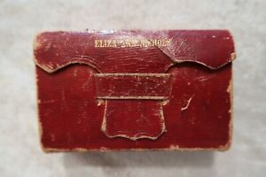 1845 Pocket Size HOLY BIBLE Red Cover Morrill Silsby Concord NH 1847 Inscription