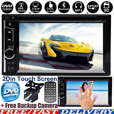 2Din Bluetooth Car Stereo Radio HD CD DVD Touch Screen IOS/Android Mirror Link