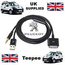 Peugeot Teepee iPhone iPod 3.5mm usb & aux câble replacement