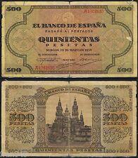 500 PESETAS 1938 BURGOS Serie a1762630 P.114a -EL DE LA FOTO-