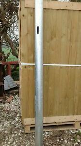 IAE GALVANISED METAL FARM GATE SLAM POST (SHUT) 3 1/2 88.9 DIA X 2000MM