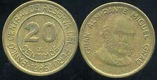 PEROU  20 centimos 1986  ( bis )