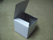 Lot of 25 4x4x4 Gift Retail Shipping Packaging boxes White lightweight cardboard