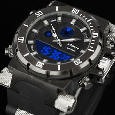 INFANTRY Mens LED Digital Quartz Wrist Watch Chronograph Military Sport Rubber
