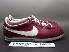 Nike Classic Cortez Leather Dark Red White GS 2012 sz 7Y
