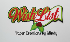 CRAFTECAFE MINDY CHRISTMAS WISH LIST TITLE  premade paper piecing scrapbook