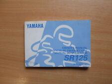 owner`s manual do utilizador Yamaha SR 125 (3MW) 1997 manuel du proprietaire