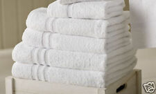 5 x Bath Towels 100% Egyptian Cotton 67 x 135cm Soft Hotel Grade Quality