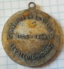 Médaille 100 ans Levallois Perret 1866-1966