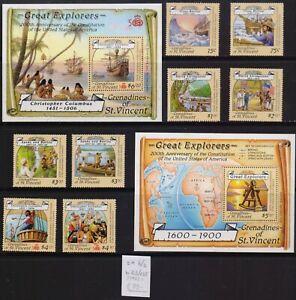 ! Grenadines Of St Vincent 1988. Stamp. YT#546/553,B23/23A. €33.00!
