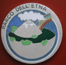 """MEDAGLIONE UNIFACE SMALTI COLORATI """"PARCO DELL'ETNA"""" SICILIA VULCANO SICILY"""