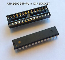 ATMEGA328P-PU ATMEL DIP28 ATMEGA328P - CHIP NUEVO FLASH 32K ARDUINO + DIP SOCKET