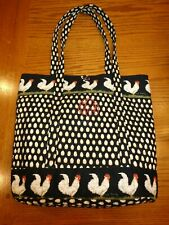 VERA BRADLEY X-LARGE TOGGLE TOTE VINTAGE CHANTICLEER ROOSTER HENS PERFECT EUC
