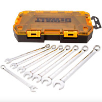 Dewalt Metric Combination Long Panel Wrench Set 8 Pack Wrenches Tool Case Kit