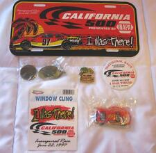 LOT OF 7 NAPA NASCAR 1:64 #98 CALIFORNIA SPEEDWAY CAR/BUTTON/MAGNET/ PIN NEW