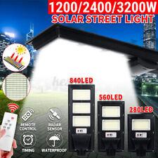 3200W LED Solar Street Wall Light Outdoor Garden Lamp PIR Motion Sensor + Remote