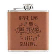 Never Dar Up On Your Dreams Mantener Dormitorio 170ml Piel Sintética Pu Petaca