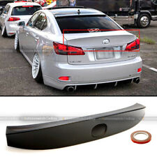 For 06-12 IS250 IS350 ISF Unpainted WD W Style ABS Rear Trunk Lip Wing Spoiler