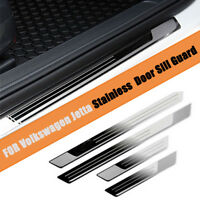 4pcs Stainless Door Sill Guards Plates Sills with logo