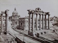 """Alinari Photo, """"La Facciata del Palazzo Vista di Profilo con le Scalinate"""" Roma"""