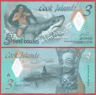 COOK ISLANDS 3 DOLLARS 2021 PNEW POLYMER BANKNOTE UNC