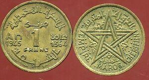 MAROC  MOROCCO  1 franc 1945   ( aus )