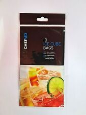 Ice Cube Bags Parties BBQs Cocktails good for Stock cubes 10 bags = 280 cubes