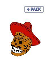 Dead Sombrero Skull Mexican Hat Tattoo Grinning Sticker Vinyl Decal 1-234