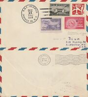 US 1962 PAN AM JET FIRST FLIGHT FLOWN AIR MAIL COVER NEW YORK TO CHRISTIANSTED
