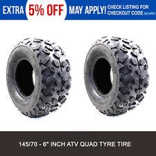 "2 x 145/70 - 6"" inch Tyre Front Rear Tire Mini Monkey pocket Quad Bike ATV Buggy"