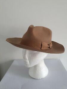 PALMS HAT 100% Wool Fedora Hat Size M