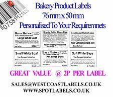 Bakery Product Food Ingredients, Self Adhesive Labels , Personalised BREAD CAKE