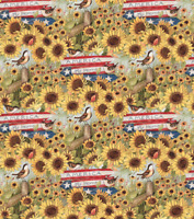 BTY Susan Winget AMERICA MY HOME Print 100% Cotton Quilt Crafting Fabric by YARD