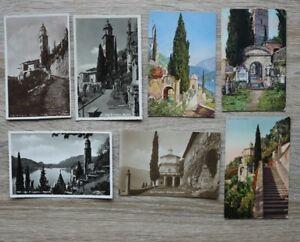 Posten 7 AK Schweiz 1905-40 Morcote Lago di Lugano Häuser Gebäude Wege Kirche