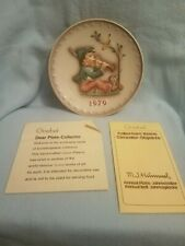 """1979 Hummel Annual Plate """" Singing Lesson """" with original box"""