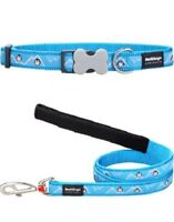 Red Dingo PENGUIN Design Collar / Lead | TURQUOISE | Dog / Puppy | Sizes XS - LG