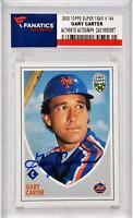 Gary Carter New York Mets Autographed 2005 Topps Super Team #144 Card - Fanatics