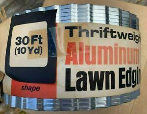 Vintage ALUMINUM Thriftweight Lawn Edging Border Garden 30FT mid century Alum