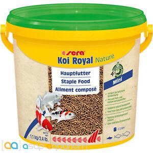 sera Koi Royal Nature Mini 3800mL 2mm Natural Koi Fish Food Pellets High Quality