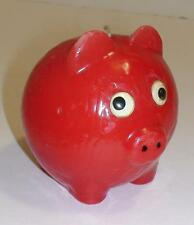 CANDELA CERA MAIALE MAIALINO ROSSO-RED PIG CANDLE-COCHON BOUGIE-COLLECT-VINTAGE