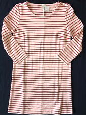 J Crew Dress L Maritime Stripe Knit Shift Ivory Red NWT e7077 NEW