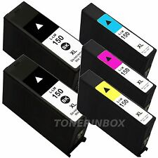 5 Pack New 150XL Ink Cartridge For Lexmark Pro715, Pro915, S315 S415 S515 150