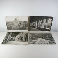 4 VECCHIE GRANDI FOTOGRAFIE FOTO BIANCO E NERO ROMA VATICANO VINTAGE 37 x 27 cm
