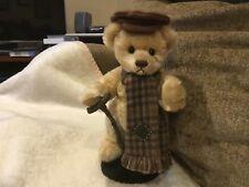 Franklin MInt Heirloom Teddy Bear (Tiny Tim) w/Stand