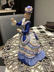 Gorgeous LENOX Lady Porcelain Figurine GRAND TOUR Victorian Hat Flowers