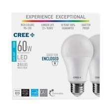 CREE 60W Equivalent Daylight (5000K) A19 Dimmable LED Exceptional Light (2Pack)