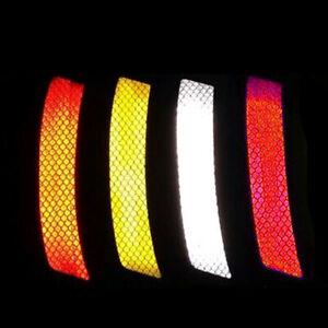 2Pcs Car Auto Bumper Reflective Warning Strip Decal Stickers 14*2.3cm