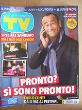 TV Sorrisi e Canzoni n°7 2015 Speciale Festival Sanremo 2015 Carlo Conti [D46]